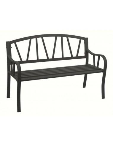 BANC DE JARDIN - ACIER - 127,5 cm